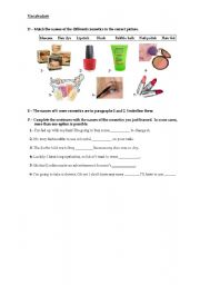 English Worksheets: Cosmetics 2