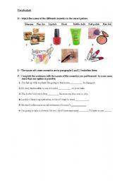 English Worksheet: Cosmetics 2