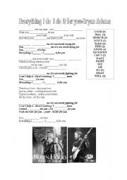 English Worksheets: Song Everything I do Bryan Adams