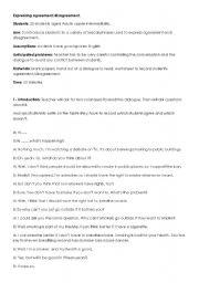 English Worksheet: expressing agreement and disagreement