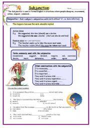English Worksheet: Subjunctive