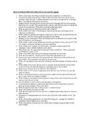 English Worksheets: Selectividad Writing practice topics
