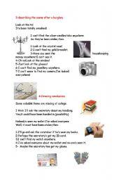 English worksheet: describing things 2