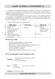 English Worksheets: Gidelines for writing