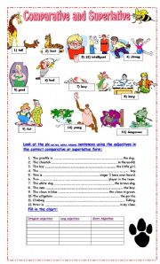 English Worksheet: Comparative and Superlative Exercises