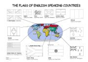 The flags of English speaking countries