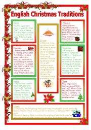 English teaching worksheets christmas traditions english worksheets christmas traditions sciox Image collections