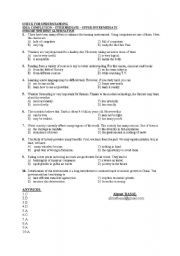 English Worksheets: CHECK FOR UNDERSTANDING - IDEA COMPLETION