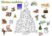 English Worksheet: Christmas tree vocabulary