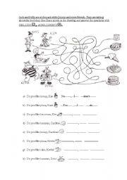 English Worksheet: Likes and Dislikes food