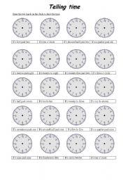 telling time esl worksheet by fatma2. Black Bedroom Furniture Sets. Home Design Ideas