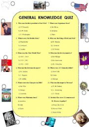 English Exercises: General knowledge Quiz