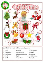 English Worksheet: Christmas