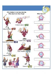 English Worksheet: I can tell the time II part