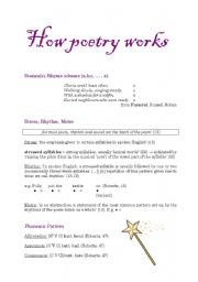 English Worksheet: How poetry works ...