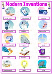 English Worksheet: Modern Inventions