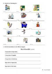 English worksheet: Test - Part II