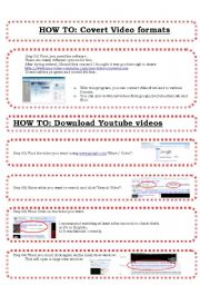 English Worksheet: HOW TO: Download / Covert Youtube videos Tutorial