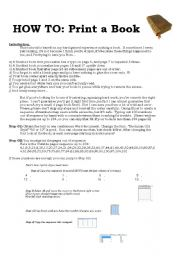 English Worksheets: HOW TO Print a book