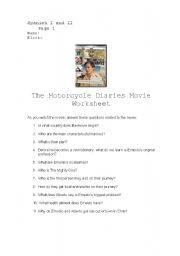 The Motorcycle Diaries Movie Worksheet
