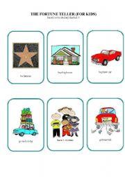 English Worksheet: The fortune teller  (for kids)