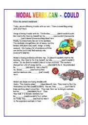 English Worksheet: MODAL VERBS CAN/COULD