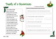 English Worksheet: A Christmas Poem