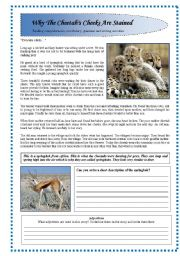English Worksheets: Reading comprehension+ vocabulary +grammar and writing exercise