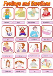 English Worksheet: Feelings and Emotions