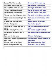 English Worksheets: be careful