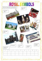 English Worksheet: British royal symbols