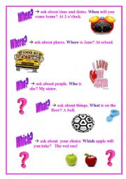 English Worksheets: Question Words -1
