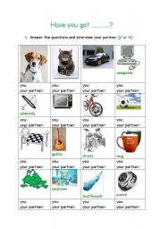 English Worksheets: Have you got
