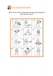 English Worksheets: Gestures