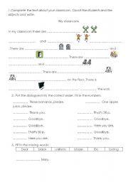 English worksheet: Revision Part 1