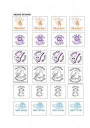 English Worksheets: Excellent and motivating praise stamps!