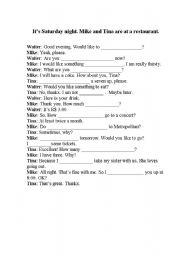 english conversation in restaurant pdf