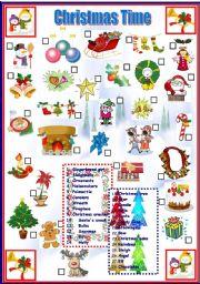 English Worksheet: Christmas Time
