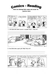 English Worksheet: Comics - Reading Activity 2