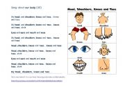 English Worksheets: Song about our body
