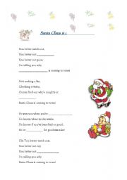 Christmas song: Santa Claus is coming to town