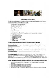 English Worksheet: The Pursuit of happyness