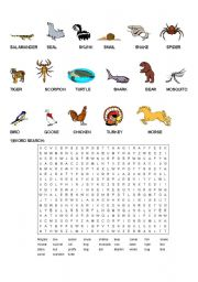 English Worksheets: ANIMALS- PART2