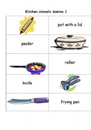 Kitchen Tools Name english teaching worksheets: kitchen utensils/equipment