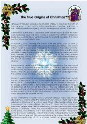 The True Origins of Christmas - ESL