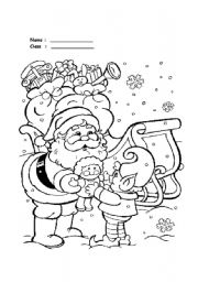 Santa claus coloring collections