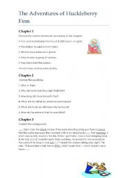 The Adventures of Huckleberry Finn - Worksheet