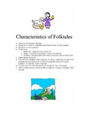 English Worksheets: Characteristics of Folktales