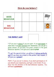 English Worksheets: Behaviour
