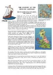 English Worksheet: History of the English language - The Vikings